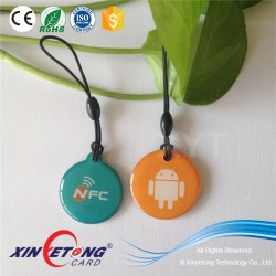 Customized printing epoxy cheap Ntag216 nfc tag