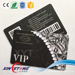 Customize Black Matte Surface PVC Business Card with Ntag213 chip