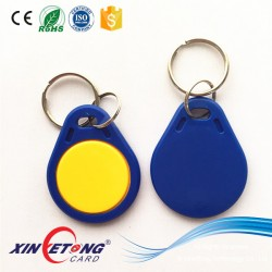 Logo Screen printing ABS NFC keytag with MF Desfire EV1 chip