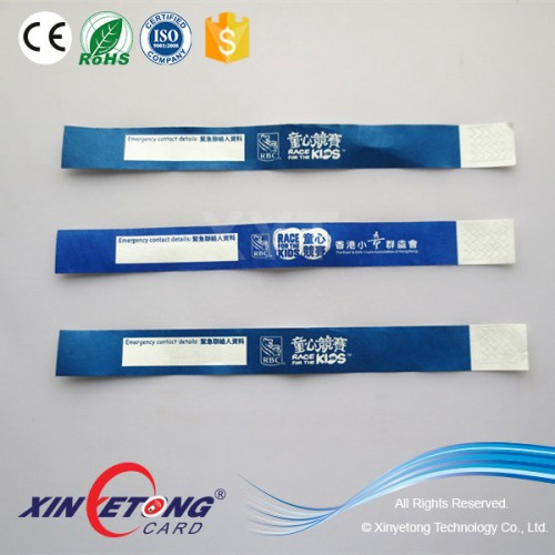 Ultralight chip One use Paper RFID Wristband for access control