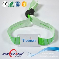 Woven Fabric RFID Band for Event , Shopping , Access control