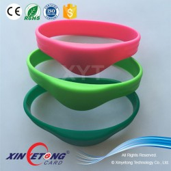 13.56Mhz Programmble Silicon RFID/NFC Wristband for E-envet