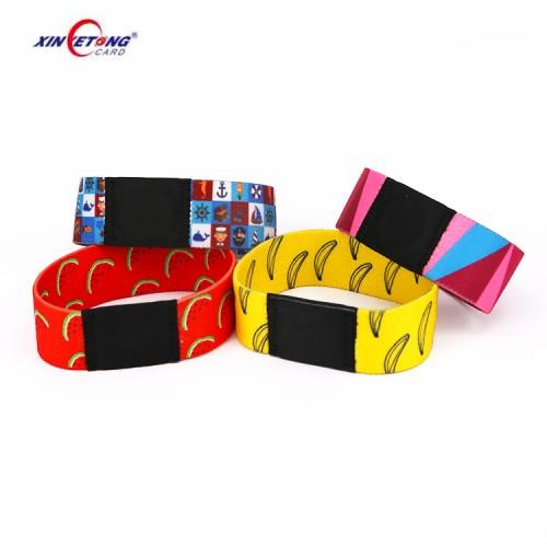 Dye-Sublimation Printing NFC Elastic Wristband NFC Stretch Festival Wristband