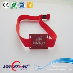 Reusable RFID Fabric Wristband with IC chip