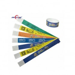 disposable NFC Soft RFID Programmable Paper Wristband for Events Tickets